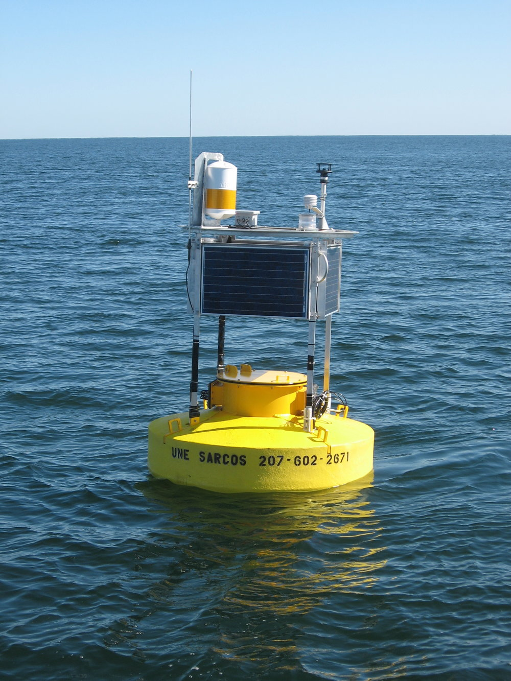 MEET THE BUOY: Data telemetry buoys house instrumentation that make air and water measurements. Data is sent back to shore via a cell signal and provides near real-time information for boaters, scientists, and commercial fishermen.