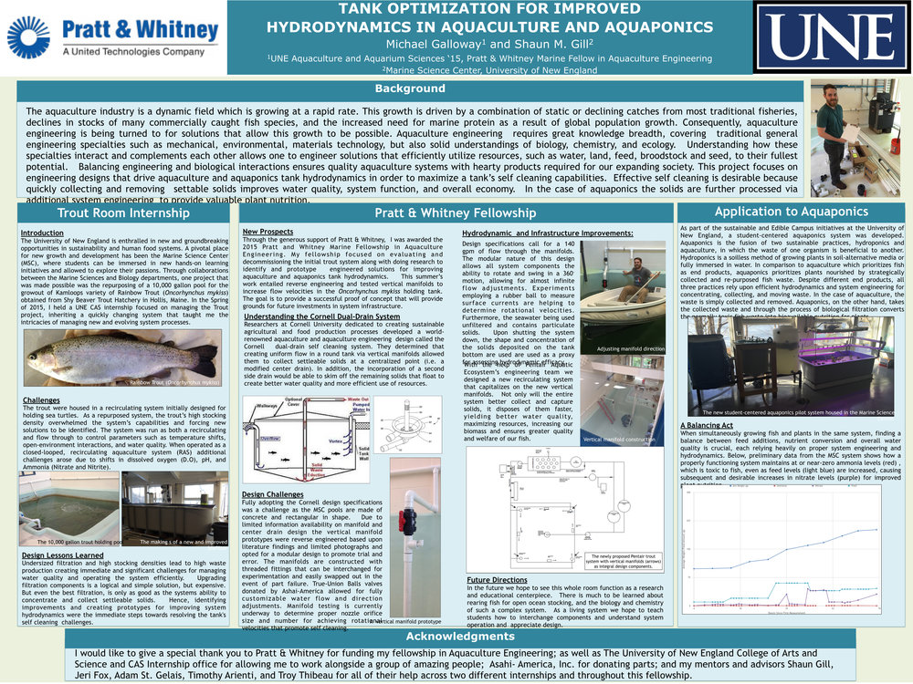 A   summer fellow's poster documenting the benefits, and the journey, of creating radial, self-cleaning flow in a rectangular tank.