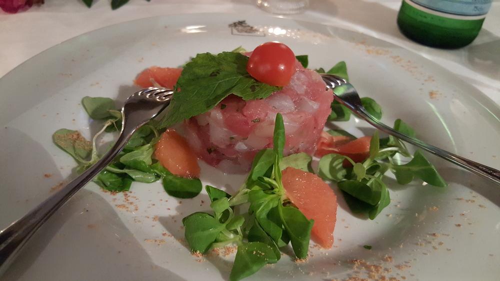 Tuna and sea bass tartare