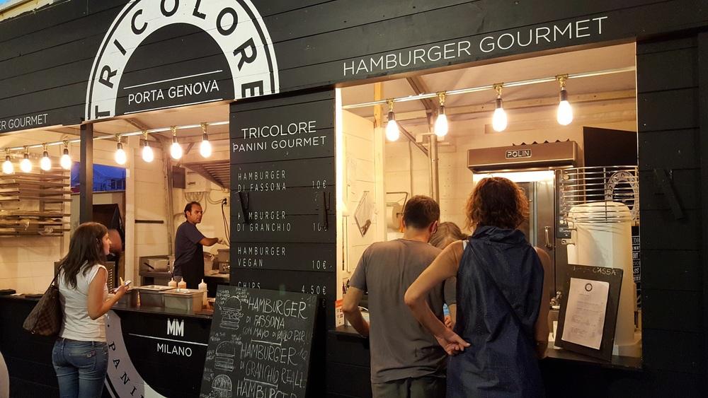 Tricolore: provate il delizioso burger di granchio