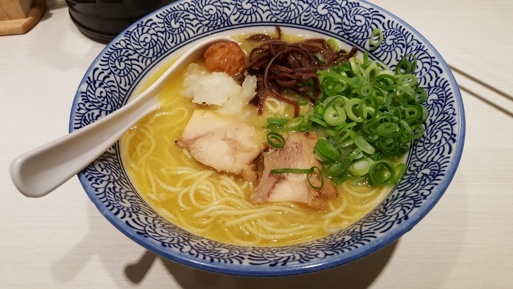 ramen in chicken broth