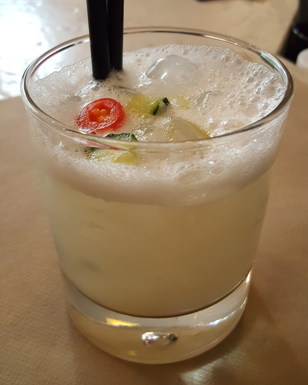 Tequila chili sour