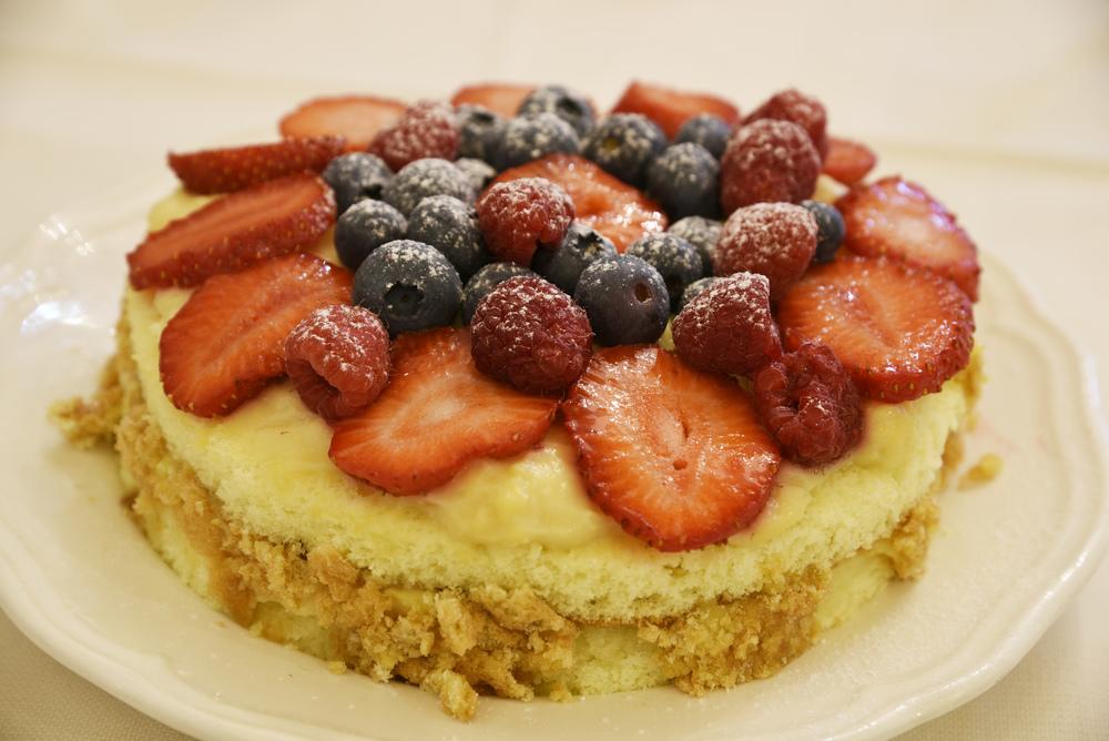 La torta senza glutine e lattioso