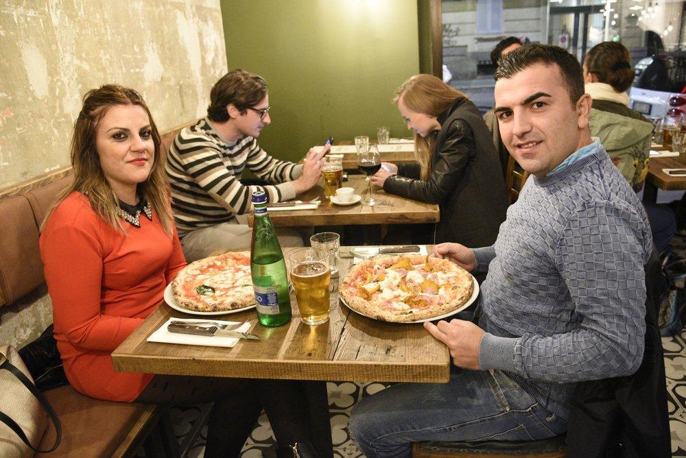 Angelo Mondella e la sua compagna