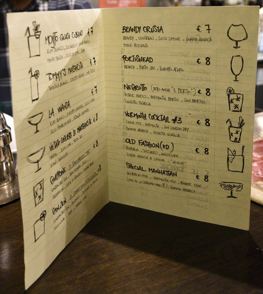 A great drink list!