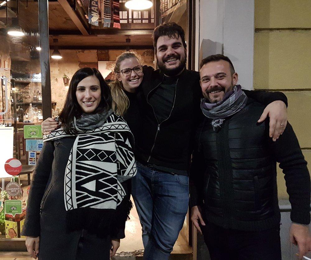 Ilaria, Valeria, Maurizio, Emanuele (Foto Shane)