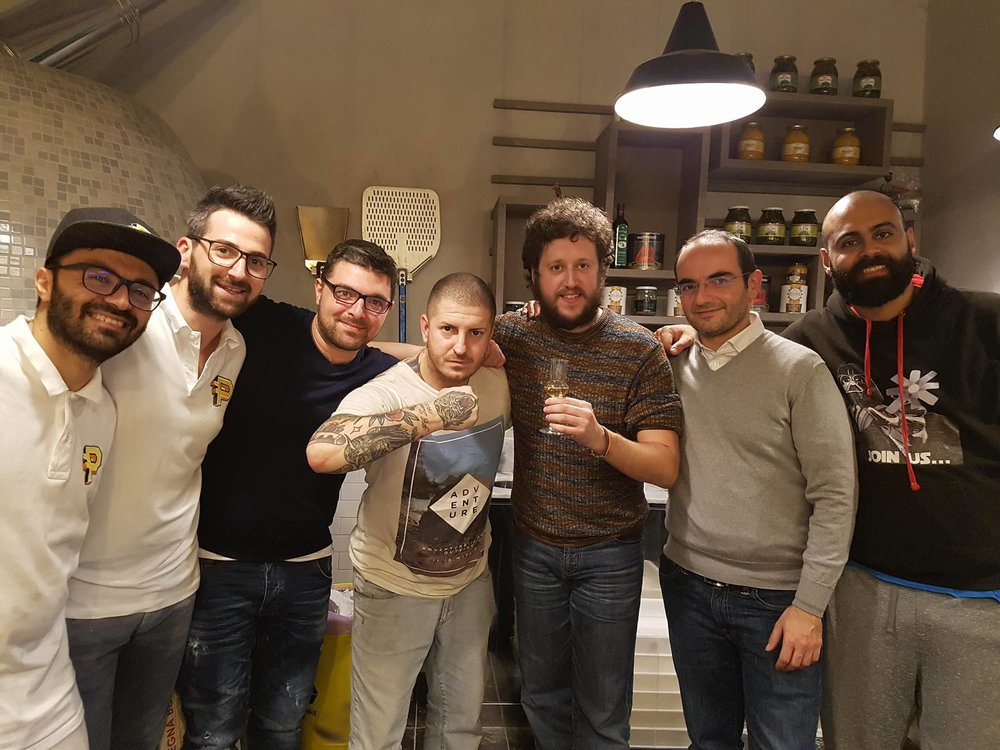 Francesco, Daniele F, Roberto, Daniele P, Shane, Franco, Daniel (photo by ?)