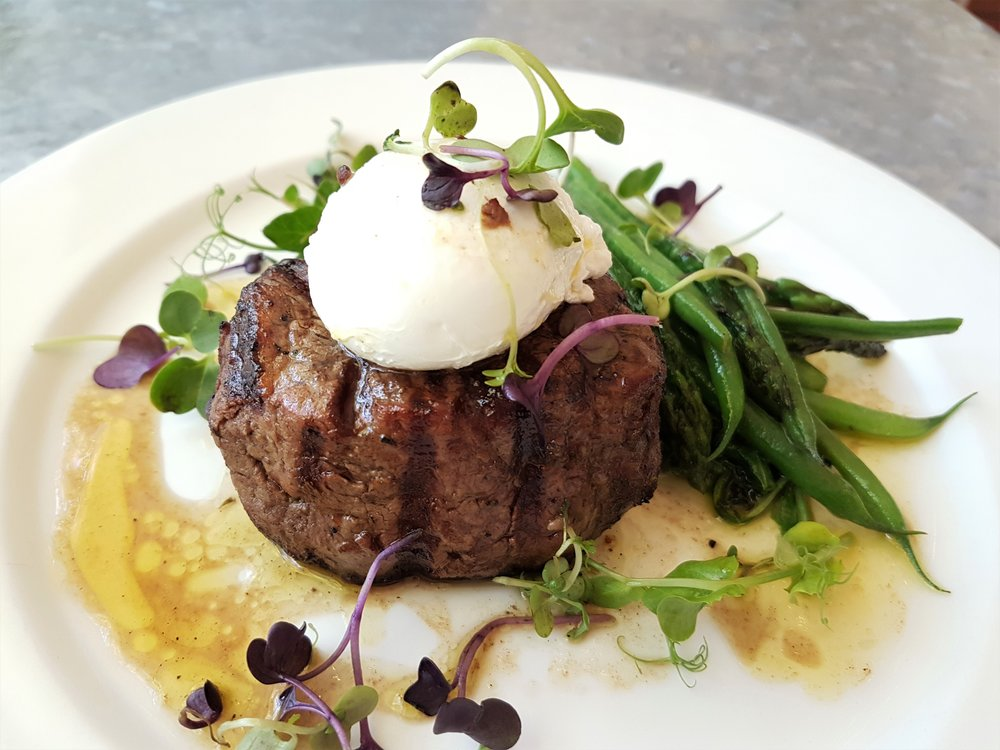 Farmer angus filet with poached egg at Spier Wine Farm
