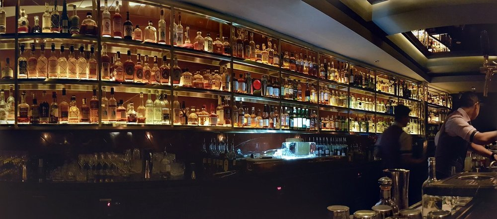 The beautiful back bar at Manhattan
