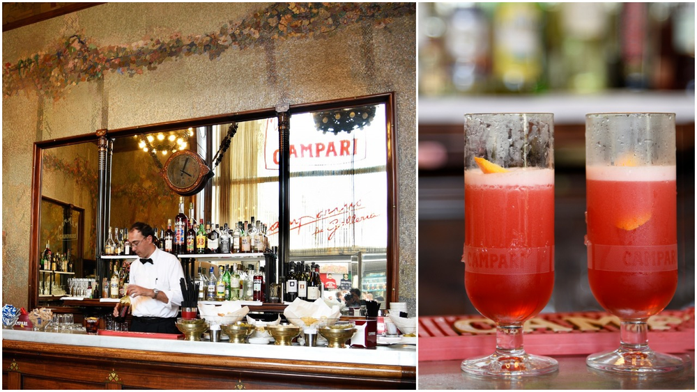 Campari Shakerato at Camparino (photos Toney Teddy Fernandez)