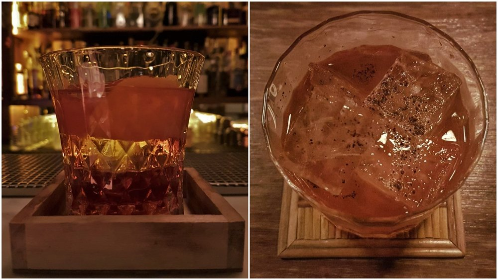 Soju Negroni and Wagyu Old Fashioned