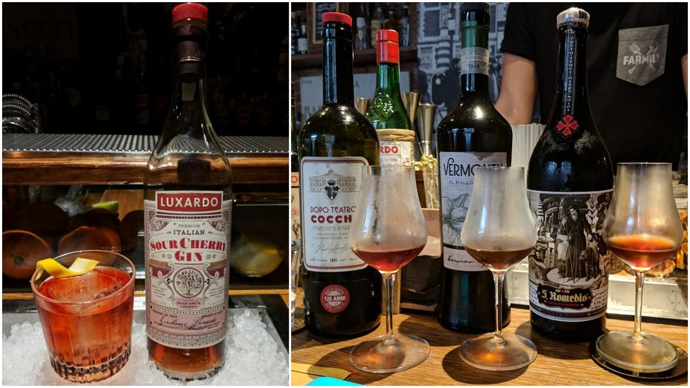 Luxardo Sour Cherry negroni and Italian vermouth tasting at  Iter