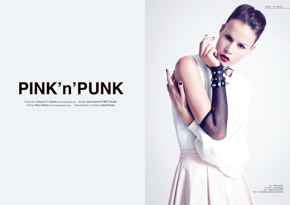 """Pink'n'Punk"" editorial for DEEPART Magazine (Portugal)"