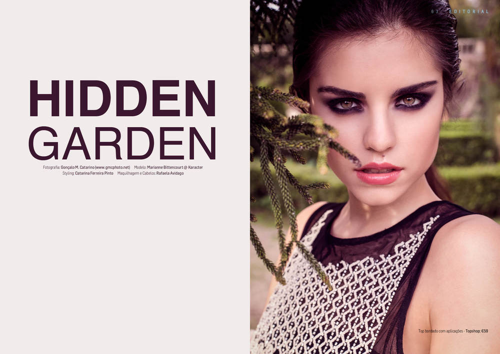 """Hidden Garden"" editorial for DEEPART Magazine (Portugal)"