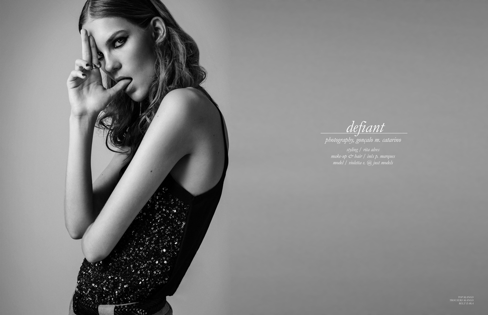 """Defiant"" editorial for TINSEL TOKYO Magazine (USA)"