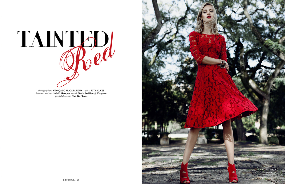 """Tainted Red"" editorial for JUTE Magazine (USA)"