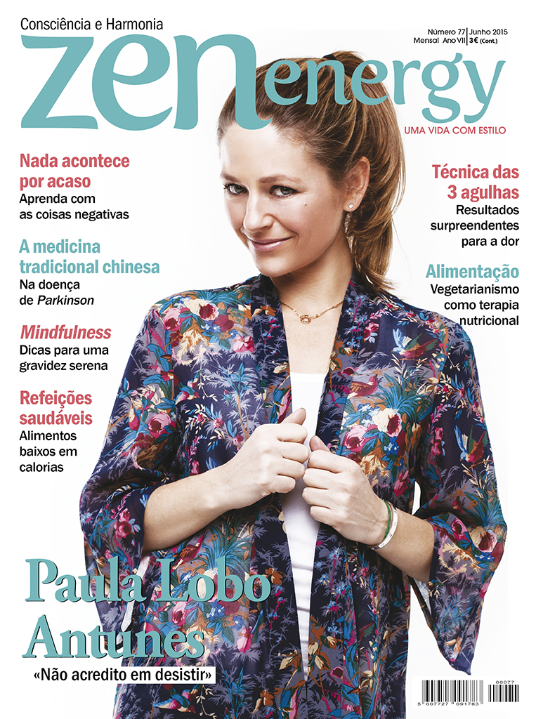 Cover with the portuguese actress Paula Lobo Antunes, for ZEN Energy Magazine (Portugal).