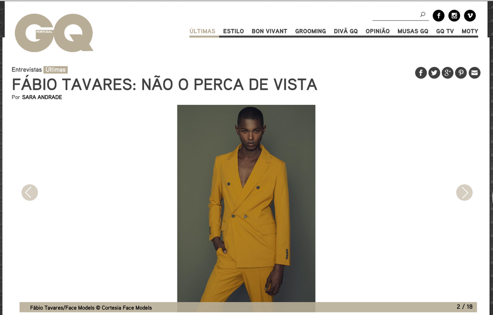 Fábio Tavares shot for KAEOT and featured in GQ Portugal