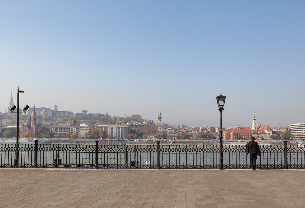 View over the Danube and Buda