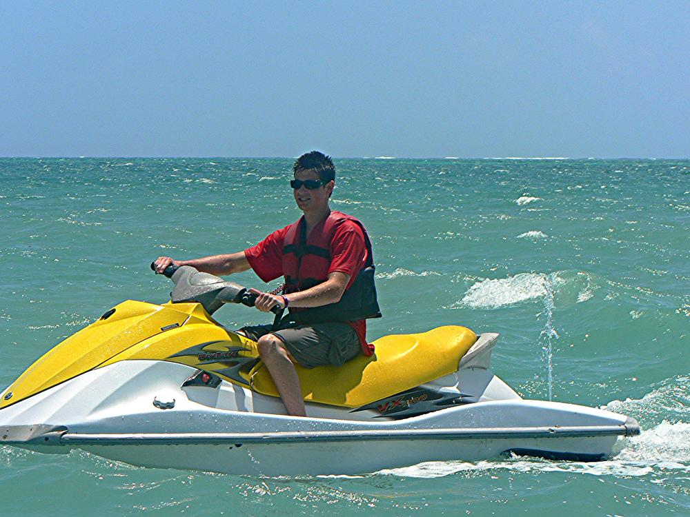 Seth Koller on Jetski Cancun