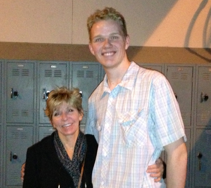 Owen Putz with Dr. Mary J. Sanders mother of Seth