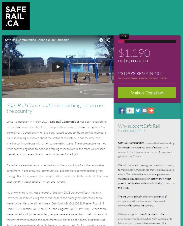 To support the Rail Safe Communities campaign, click on the image above.