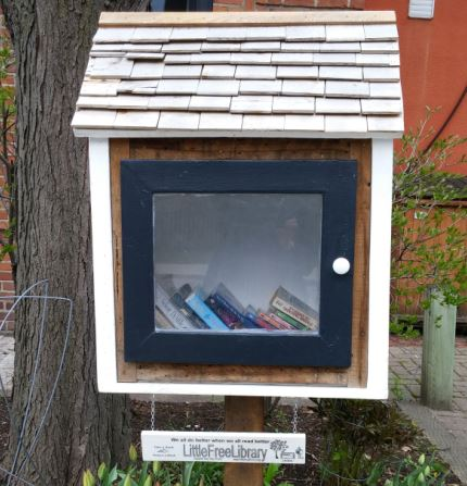 """Little Free Library"" (east side of McMurrich just south of Belmont)"