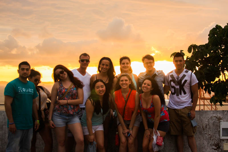 With 10 students from Rowan University on a study abroad trip to Salvador, Brazil, 2012