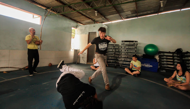 Practicing capoeira, Salvador, Brazil, 2012
