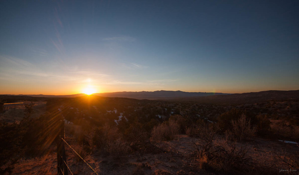 Sunset over the Jemez Mountains