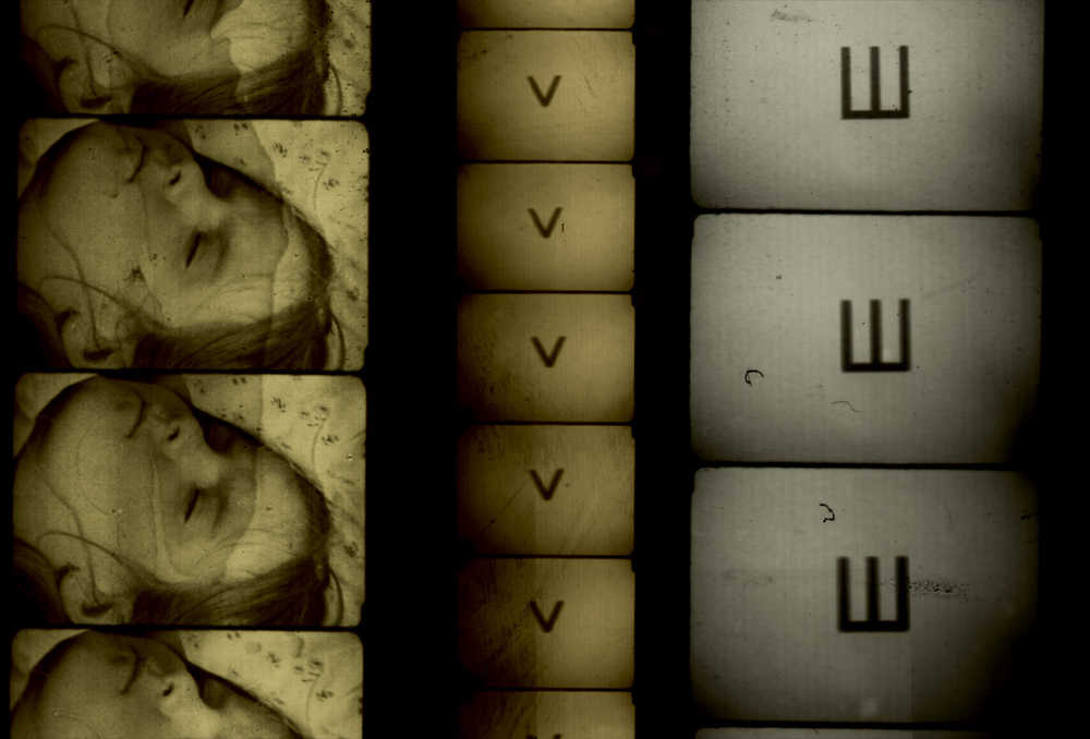 Image: Filmstrips from Alex MacKenzie's Wooden Lightbox. Courtesy of the artist.