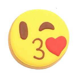 kiss emoji cookie district desserts