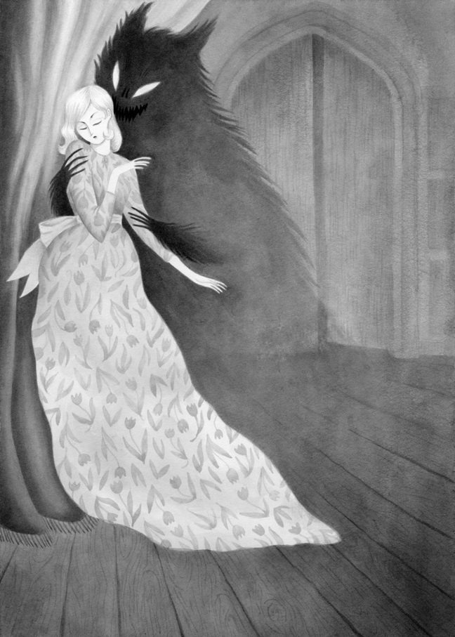 illustration for  Carmilla,  a vampire novella by Sheridan Le Fanu