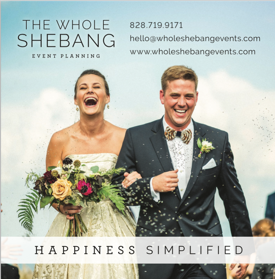 The Whole Shebang Events   828-719-9171   WholeShebangEvents.com