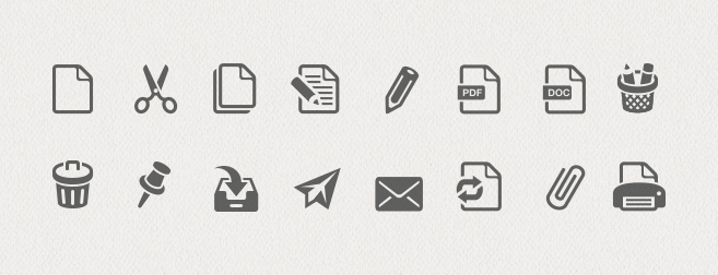Office & Documents Icon Set