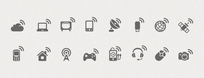 Wireless Communications Icon Set