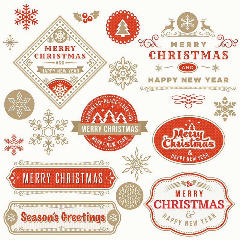 Christmas labels and elements. Available to purchase  here