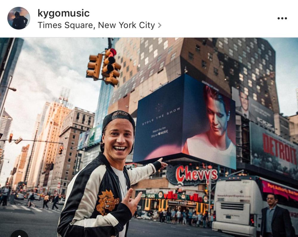 - Times Square - The Box billboard