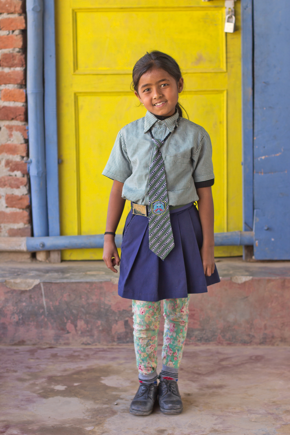 She's the First Scholar Aliza T.M. poses in Nepal, March 2015. (photo by Kate Lord)