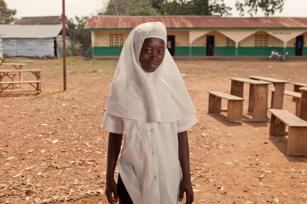 She's the First Scholar Kadiatu, 14, wants to be president! She wants to provide free education to girls in Sierra Leone.