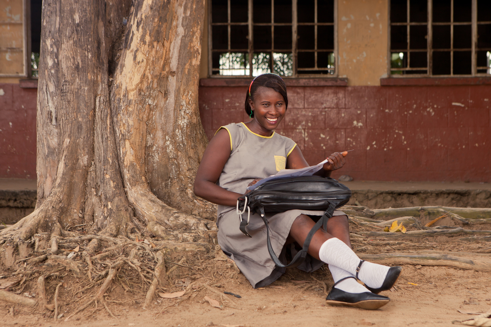 "She's the First Scholar Patricia, 15, is about to exit middle school for high school. ""I'm very nervous because today's my exam to get into SSS [high school],"" she said. ""I studied both day and night for a month, but with all my effort, I think I will pass."""