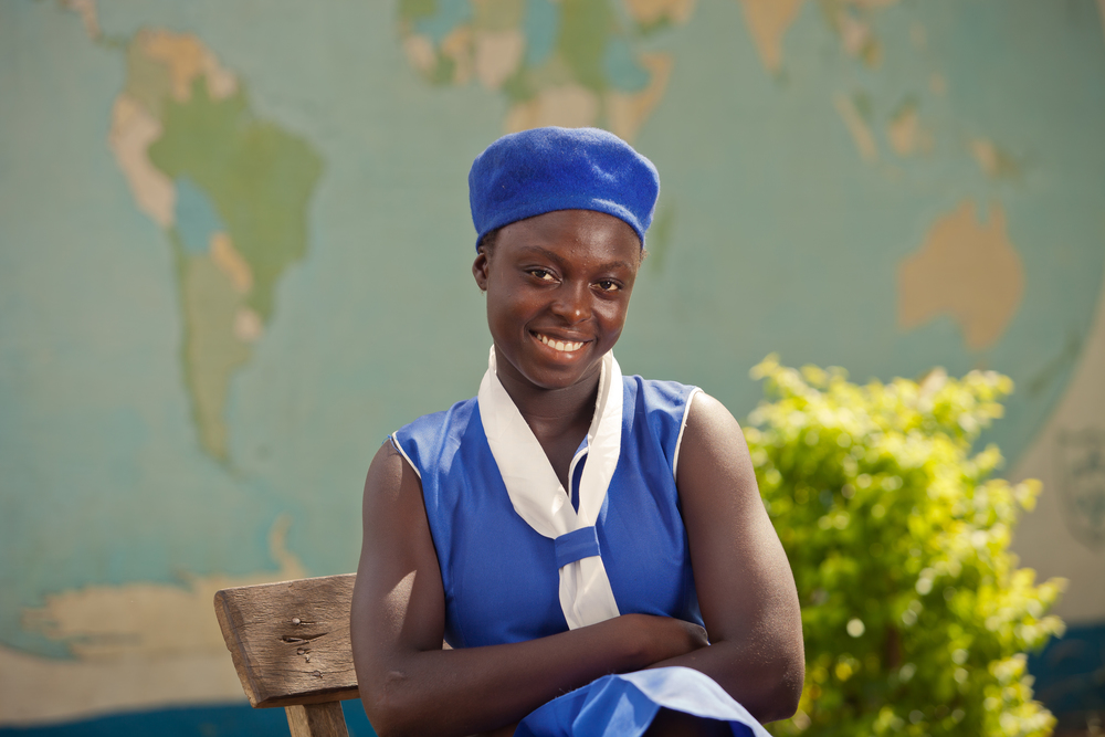 She's the First Scholar Abibatu, 17, helps her family farm everyday after school. Her favorite subject is math and she wants to work in the judiciary when she finishes school.