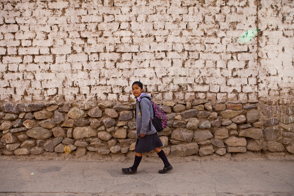 7:20am: If Elizabeth didn't live at the dormitory, her walk to school could take six hours or more. As it is, it only takes ten minutes from door to door.