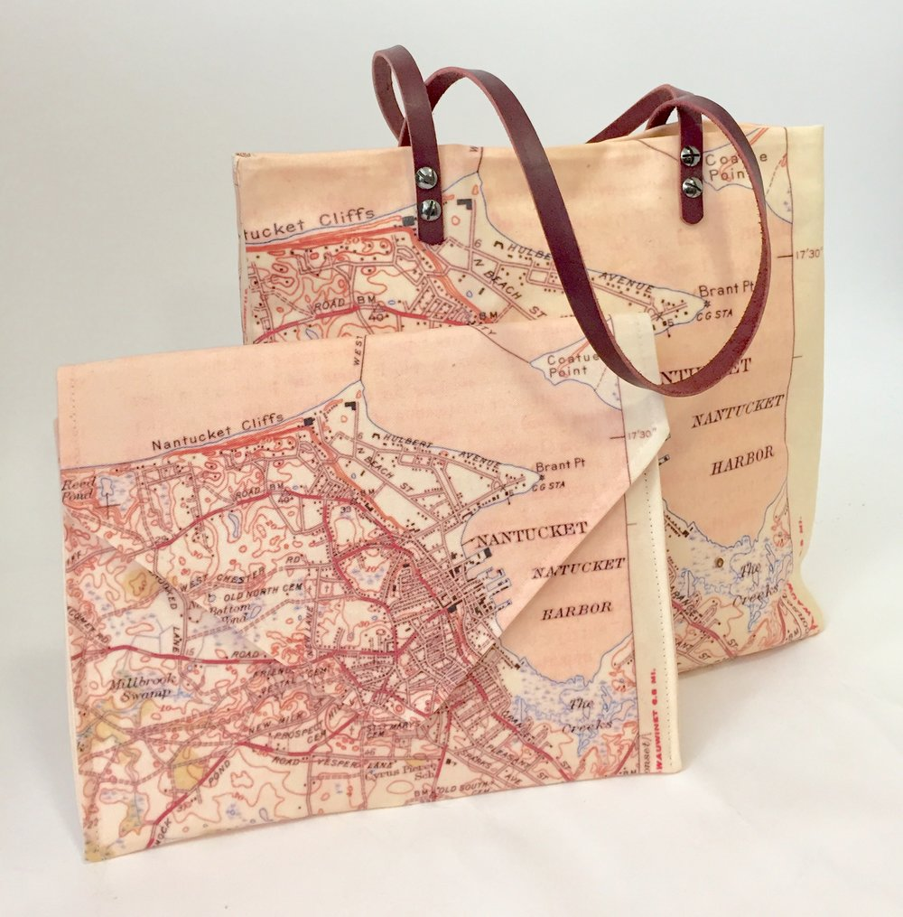 Nantucket Reds Tote and Clutch