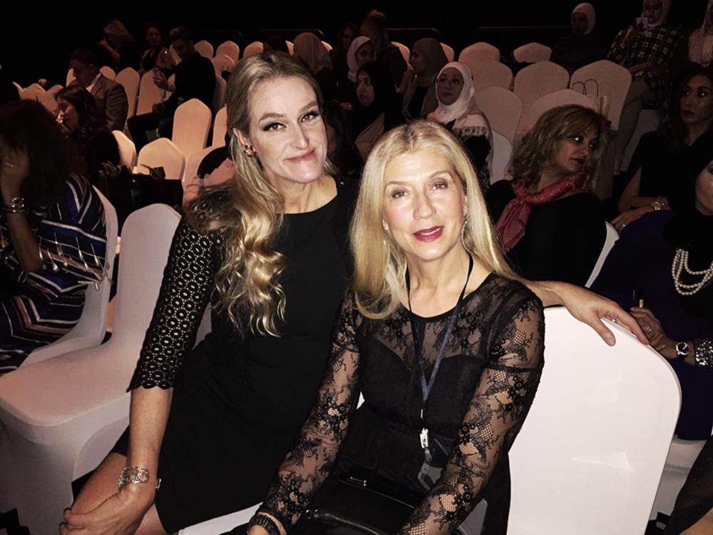 Image by Anna Maria Sandegren, From left: Stylist Angelina Jolin (Plaza Magazine, Sweden), Chatarina Törnquist, Stylist to HRH Crown Princess Victoria of Sweden.