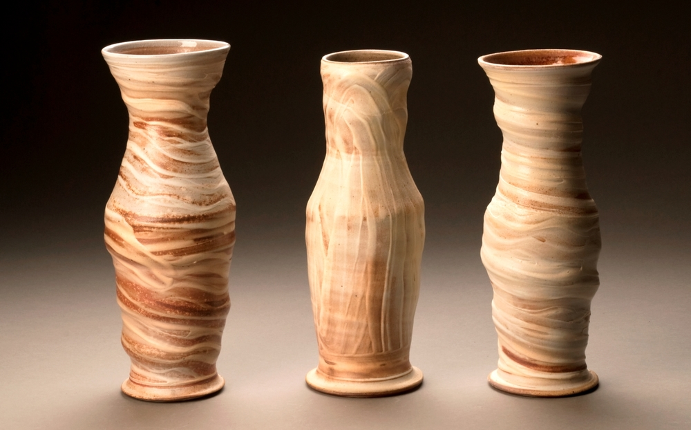 Group of Wood Fired Vases