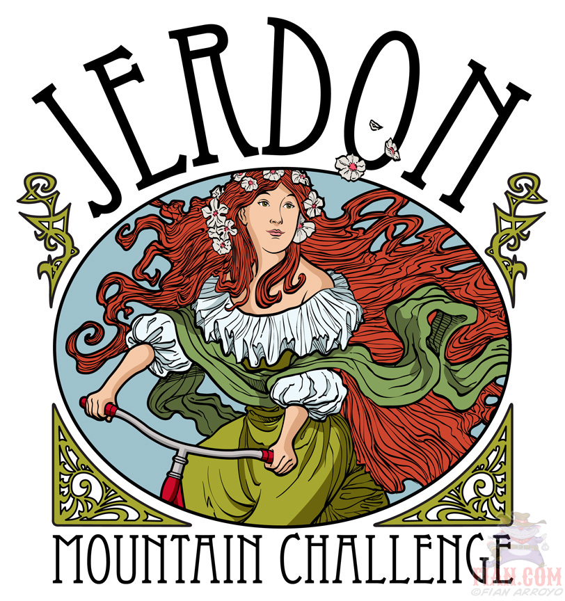 Jerdon Mountain Challenge Logo Art