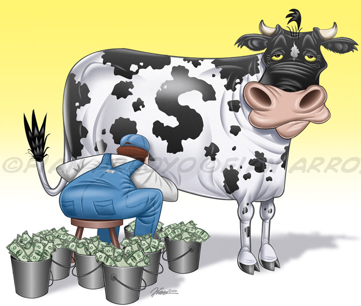 Cash Cow ATM Illustration