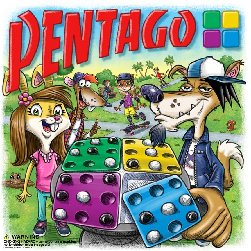 Pentago box cover illustration by Fian Arroyo
