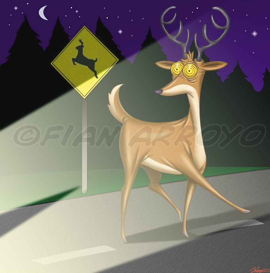 Deer Crossing.